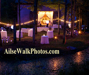 catskills weding location at night